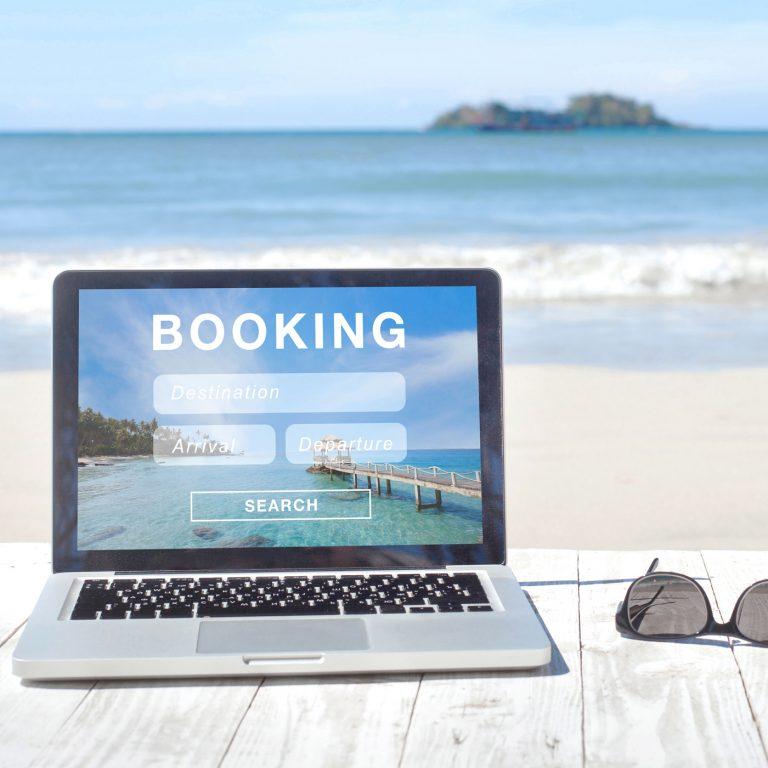 Online Travel Agency homepage