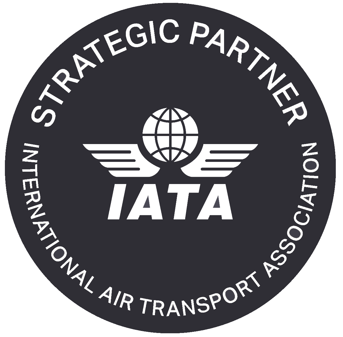 IATA Strategic Partner Off Black