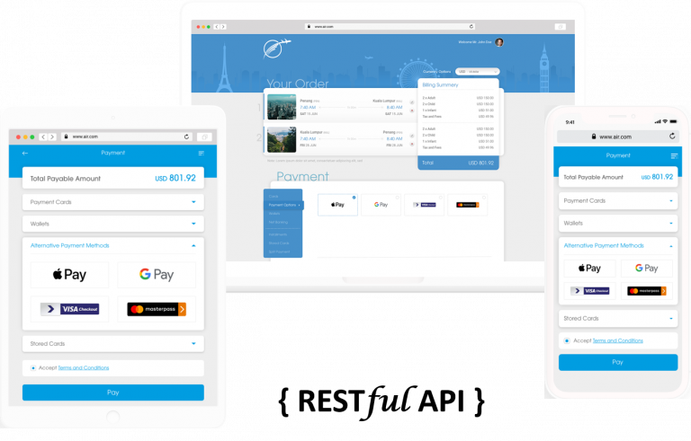 Velocity RESTful API enabling to power website, mobile web and othe rchannels like call centre reservation, check-in desktop or airport kiosk